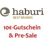 Haburi: 10€-Gutschein für Newsletteranmeldung
