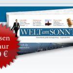 Welt am Sonntag: 8 Wochen lesen + 2 Cinemaxx-Karten für 13,50 Euro