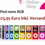 iPod nano 8GB inkl. Versand für 123,95 Euro!