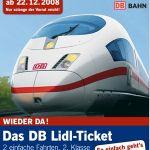 LIDL: Bahnfahrkarten (2 Fahrten) für 55 Euro