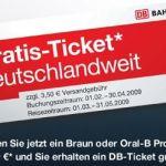 Oral B / Braun: Gratis Bahnfahrt für Einkauf ab 99 Euro