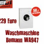 Waschmaschine: Bomann WA947 für 229 Euro!